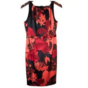 TAHARI Alina Floral Dress Valencia